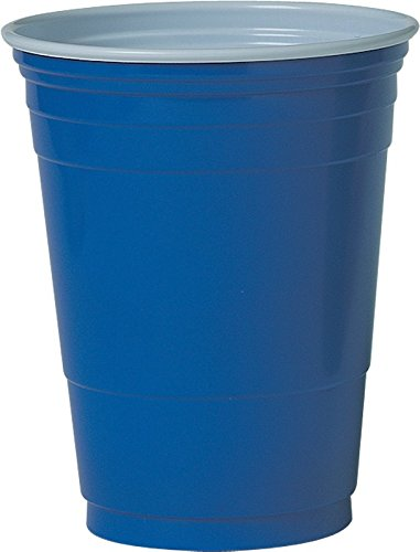 Solo Foodservice P16BRL-00001 Cold Cup, 16 oz - 18 oz, Blue (Pack of 1000)