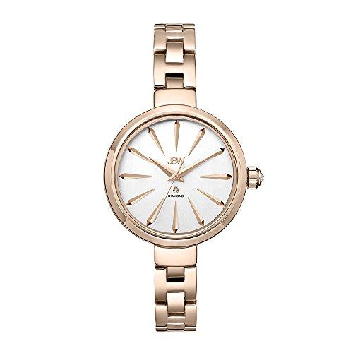 JBW Women's J6326E Analog Display Japanese Quartz Rose Gold Watch