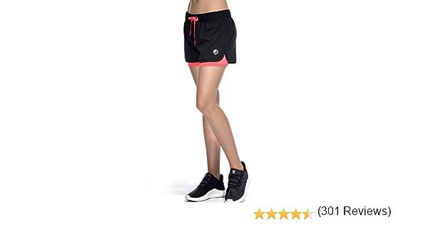 CtopoGo Pantalones Cortos de Deporte 2 en 1 para Mujer Pantalones ...