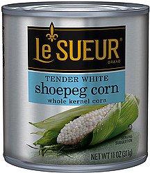 Le Sueur Tender White Shoepeg Corn, Whole Kernel 11 Oz (Pack of 6)
