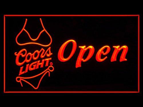 Coors Light Bikini Cerveza LED Caracteres Publicidad Neon ...