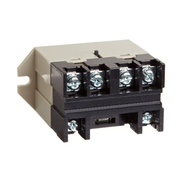 Omron G7L-2A-BUBJ-CB DC24 General Purpose Relay With Test Button, Class B Insulation, Screw Terminal, Upper Bracket Mounting, Double Pole Single Throw Normally Open Contacts, 79 mA Rated Load Current, 24 VDC Rated Load Voltage