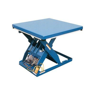 Vestil AHLT-3060-3-43 Steel Air Hydraulic Scissor Lift Table, 3000 lb., 7'' Height