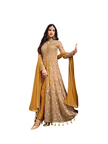 (Women's Anarkali Salwar Kameez Designer Indian Dress Ethnic Party Embroidered Gown)