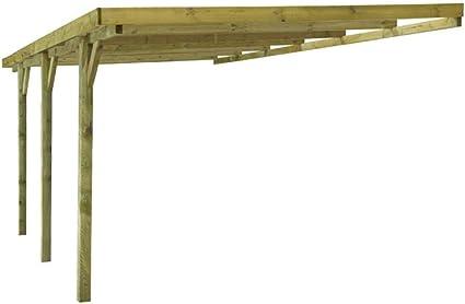 Dakar - Cochera adosada de madera tratada, autoclave