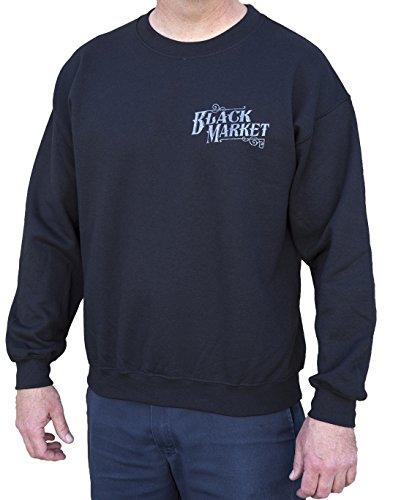 Black Market Art Men's Company USA Anvil Steampunk Print Streetwear Sweatshirt