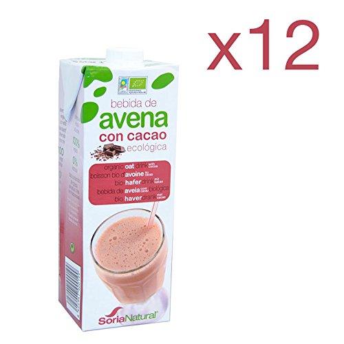 Pack 12 ud BEBIDA DE AVENA CON CACAO BIO ecológica 1 litro SORIA NATURAL: Amazon.es: Alimentación y bebidas