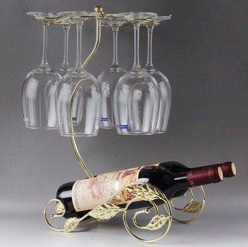 Posavasos nueva botella vino Range-Cajonera de Metal JDS-Estantería para mueble Deco oro el carro de las uvas: Amazon.es: Hogar