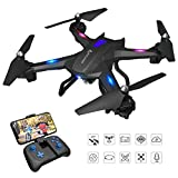 SNAPTAIN S5C WiFi FPV Drone with 720P HD Camera,60 Degree Wide-Angle Live Video RC Quadcopter with Altitude Hold, Gravity Sensor Function, RTF One Key Take Off/Landing, Compatible with VR Headset