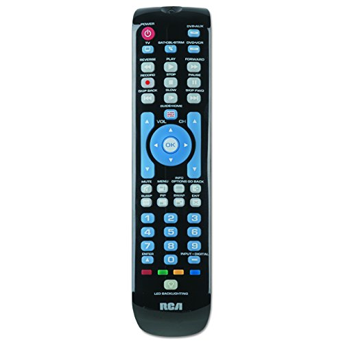 RCA RCRN04GBE Four-Device Universal Remote, Black (Remote Control Jvc Top Shield)