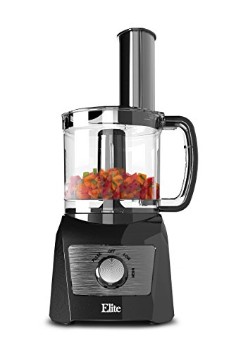 Elite Platinum EFP-7119 Maxi-Matic 3 Cup Food Processor, Black