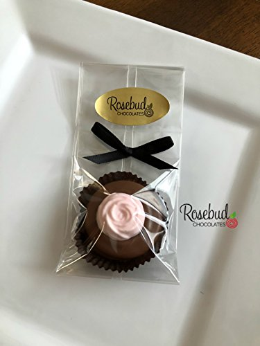 12 Pink ROSEBUD Milk Chocolate Covered Oreo Cookie Party FAVORS (One Dozen) Flowers (Pink 1 Dozen Roses)