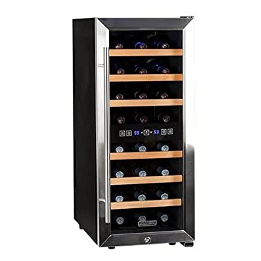 Koldfront TWR247ESS24 Bottle Free Standing Dual Zone Wine Cooler - Black and Stainless Steel