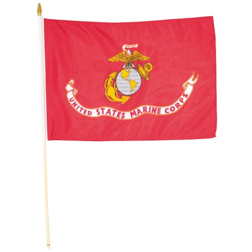 - Fox Outdoor 84-685 4 x 6 in. Marines Flag On Stick