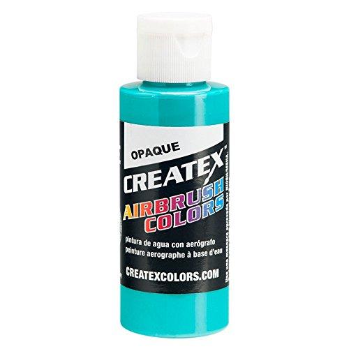 Createx Airbrush Paint, Opaque Aqua, 2 oz (5206-02)