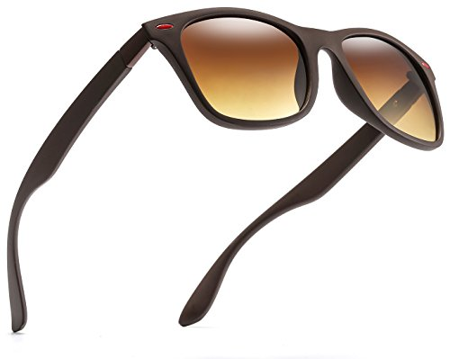 - Polarized Sunglasses for Men and Women-HD Vision Lens with UV400 Protection (Brown Frame Gradient Brown Lens)