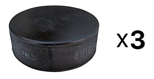 A&R Sports Ice Hockey Practice Pucks, Black – 3 Pack