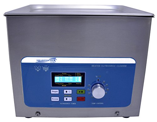 SHARPTERTEK Ultrasonic Cleaner Xps360-8L 2.2 Gal. Tank Dimesions 11.75''×9.5''×4'' by SHARPTERTEK