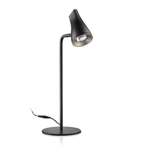 Led Desk Lamp Flexible Adjustable Table Lamp Metal Black Small