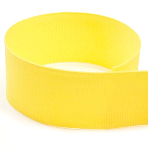 USA Made 1-3/8'' Yellow Solid Grosgrain Ribbon - 20 Yards - (Multiple Widths & Yardages Available) by The Ribbon Factory