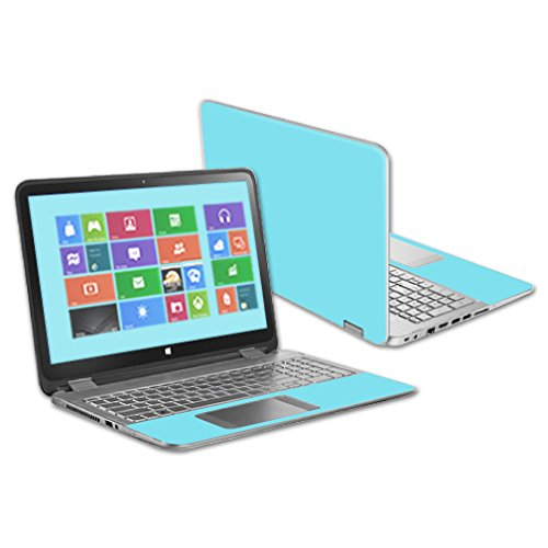"""MightySkins Protective Vinyl Skin Decal for HP Pavilion X360 13.3"""" Touch Laptop cover wrap sticker skins Solid Baby Blue"""