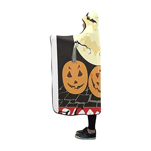YUMOING Hooded Blanket Halloween Card Blanket 60x50 Inch Comfotable Hooded Throw Wrap ()
