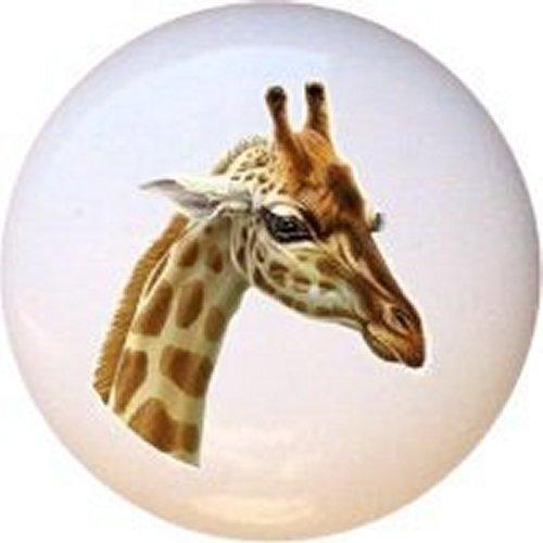 Giraffe Design #4051 Decorative Glossy Ceramic Drawer Knob