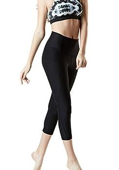 "Tm-fyc34-blk_medium Tesla Yoga 21""capri High-waist Pants W Side Pockets Fyc34 1"