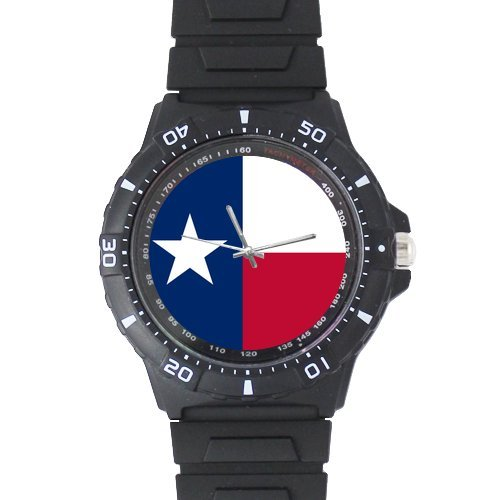 Boyfirends/Fathers Gifts Texas Falg Novelty Stylish Plastic High Quality Watch -