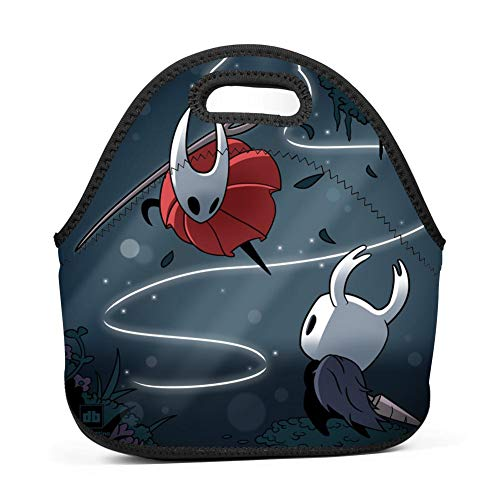 Ladies Cbr - JAIME HOF Neoprene Lunch Bag - Removable Shoulder Strap-Large Size Reusable Lunch Handbag, Hollowknight Tote Waterproof Outdoor Travel Picnic Carry Case Lunchbox Zipper Womens Mens Boys Girls
