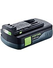 Festool batteri BP18Li 3.1Ah tillverkarnr 201789, svart/grön