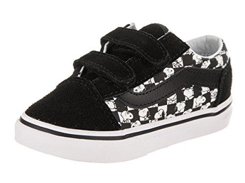 Vans Toddlers Old Skool V (Peanuts) Snoopy/Checkerboard Skate Shoe 5.5 Infants US for $<!--$46.90-->