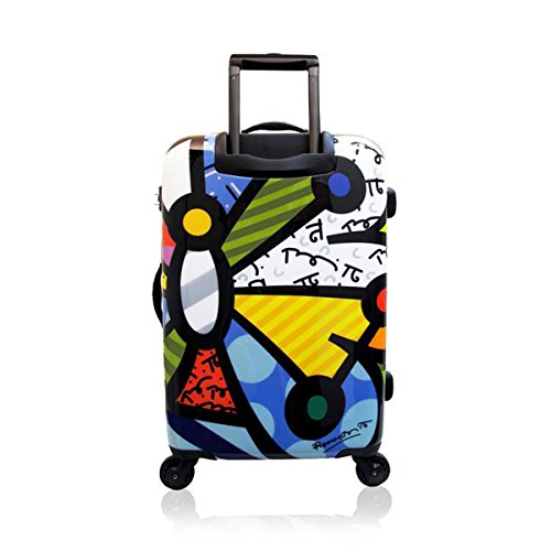Romero Britto Luggage Collection By Heys USA 26'' Spinner Suitcase - Usa Heys Flowers