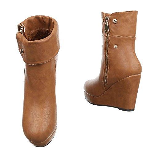 Ital-Design - Plataforma Mujer marrón claro