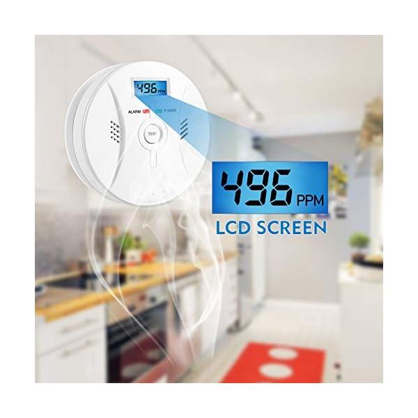 414s5OovOBL Kohlenmonoxid Warnmelder mit LCD Display CO Melder Lauter 85 Db Alarm Kohlenmonoxid Melder mit Kohlenmonoxidsensor…