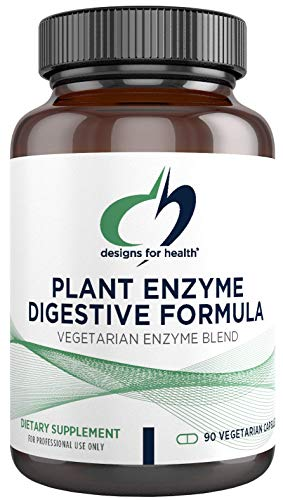 Designs for Health Plant Enzyme Digestive Formula – Vegetarian Digestive Enzymes Supplement – Gut Support with…