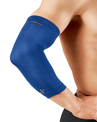 Tommie Copper Men's Recovery Vantage Elbow Sleeve, Cobalt Blue, - Blue Rays Band The