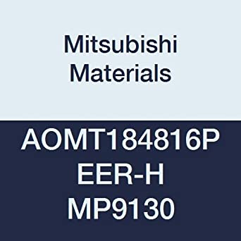 Class M Mitsubishi Materials AOMT184816PEER-M MP9130 Coated Carbide Milling Insert Round Honing 0.063 Corner Radius Pack of 10 0.189 Thick Parallelogram 85/°