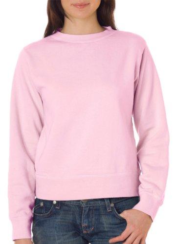 Comfort Colors Women's Wide-Band Fleece Crewneck Sweatshirt, BLOSSOM, - Band Sweatshirt Crewneck