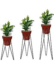 Kit 3 Tripés Para Vasos Planta Jardinagem Pmg Aramado Ferro