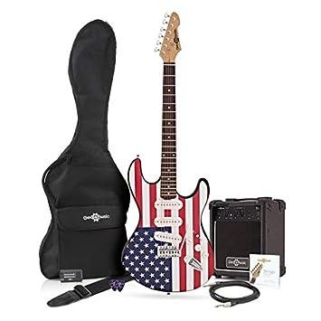 Guitarra Eléctrica LA + Paquete de Amplificador de 10 W Barras y Estrellas: Amazon.es: Instrumentos musicales