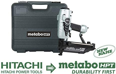 Metabo HPT Finish Nailer, 16 Gauge, Finish Nails – 1-Inch up to 2-1 2-Inch, Integrated Air Duster, 5-Year Warranty NT65M2S