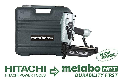Metabo HPT NT65M2S Pneumatic Finish Nailer, 16 Gauge, 1-Inch up to 2-1 2-Inch Finish Nails, Integrated Air Duster, Selective Actuation Switch, 360-Degree Exhaust Portal, 5-Year Warranty