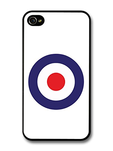 Classic Mod Target Design on White Minimalist Design case for iPhone 4 4S