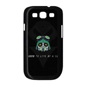 Funda Samsung Galaxy S3 9300 caja del teléfono celular Funda Negro omega J1K8IH escuadra teemo