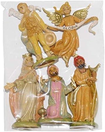 6.5 cm euromarchi Personaggi Pastori Doppi 6 Pezzi Multicolore