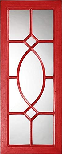 Wall Mirror Howard Elliott Dayton Rectangular Frame Red Resin New Hangin
