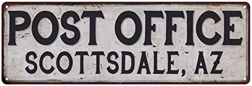Chico Creek Signs Scottsdale, Az Post Office Personalized Metal Sign Vintage 6 x 18 High Gloss Metal 206180011083 (Scottsdale Az Furniture)