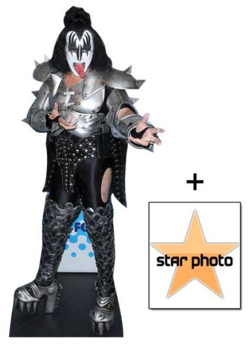 *FAN PACK* - Gene Simmons Lifesize Cardboard Cutout / Standee - INCLUDES 8X10 (25X20CM) STAR PHOTO - FAN PACK #345