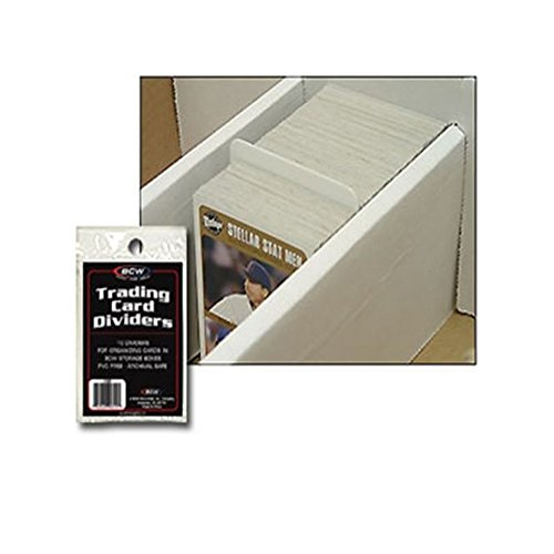 (50) BASEBALL TRADING CARD DIVIDERS - FITS IN BCW CARDBOARD STORAGE BOXES Baseball Card Sales